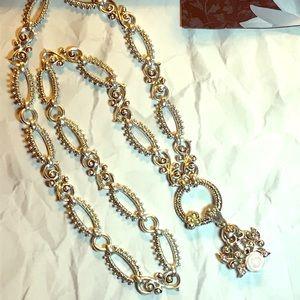 Barbara Bixby Skull Roses Never Die Necklace
